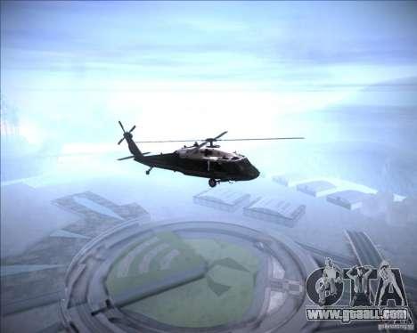 Sikorsky VH-60N Whitehawk for GTA San Andreas back left view