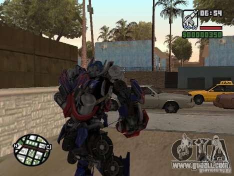 Optimus Prime for GTA San Andreas third screenshot
