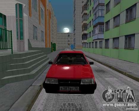 VAZ 21099 Satellite for GTA San Andreas back left view