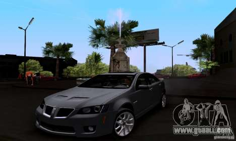 Pontiac G8 GXP for GTA San Andreas right view