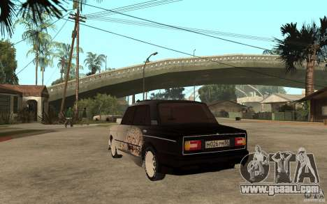VAZ 2106 Hard Tuned for GTA San Andreas back left view