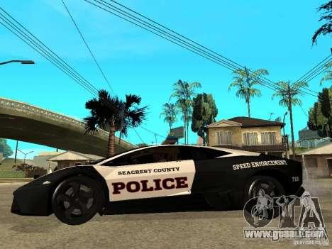 Lamborghini Reventon The Speed Enforcer for GTA San Andreas left view