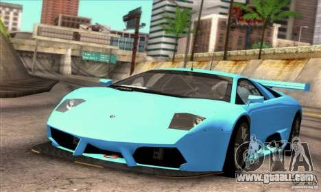 Lamborghini Murcielago R-SV GT1 for GTA San Andreas upper view