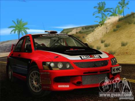 Mitsubishi Lancer Evolution IX Rally for GTA San Andreas back left view