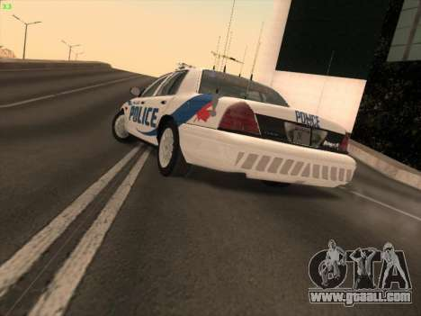 Ford Crown Victoria Vancouver Police for GTA San Andreas left view
