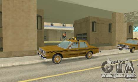 Dodge Diplomat 1985 Taxi for GTA San Andreas right view