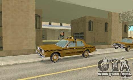 Dodge Diplomat 1985 Taxi for GTA San Andreas right view