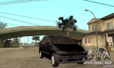 Dodge Caravan 1996 for GTA San Andreas back view