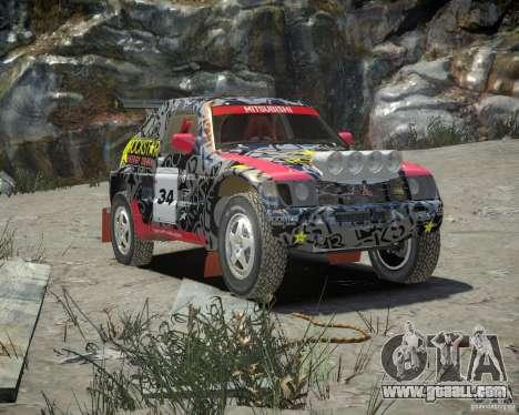 Mitsubishi Pajero Proto Dakar EK86 vinyl 1 for GTA 4 inner view