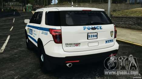 Ford Explorer NYPD ESU 2013 [ELS] for GTA 4 back left view