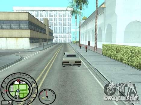 Speedometer with fuel gauge for GTA San Andreas third screenshot