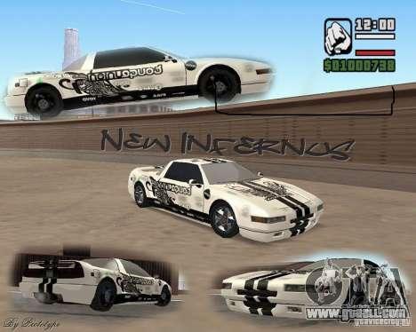 new Infernus Skin for GTA San Andreas
