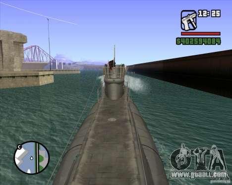 U99 German Submarine for GTA San Andreas forth screenshot