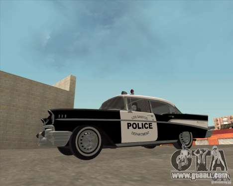 Chevrolet BelAir Police 1957 for GTA San Andreas right view