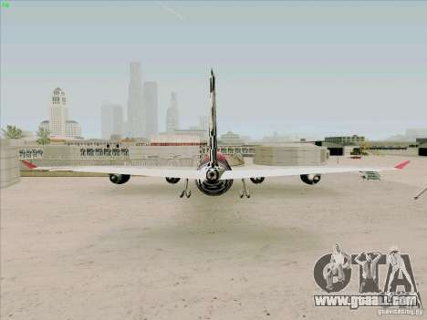 Airbus A-340-600 Formula 1 for GTA San Andreas back left view