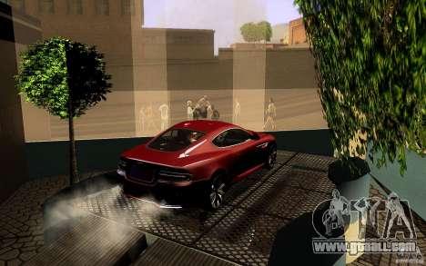Aston Martin Virage V1.0 for GTA San Andreas bottom view