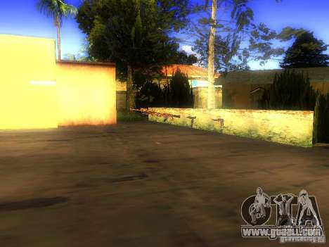 Weapons on Grove Street for GTA San Andreas sixth screenshot