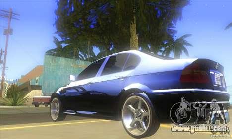 BMW 325i E46 v2.0 for GTA San Andreas back view