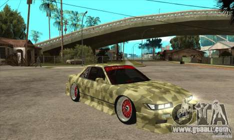Nissan Silvia S13 Army Drift for GTA San Andreas back view