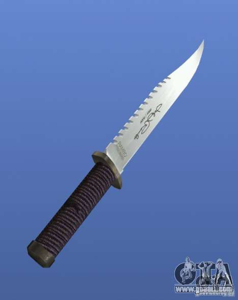 Rambo Knife with signature for GTA 4 second screenshot