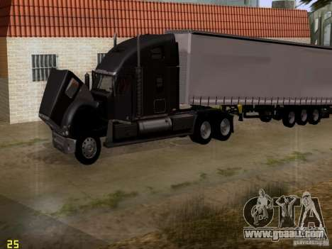 Freightliner Coronado for GTA San Andreas side view