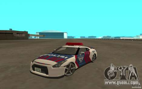 Nissan GT-R R35 Indonesia Police for GTA San Andreas