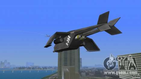 X-304 Gunship for GTA Vice City back left view