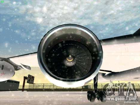 Airbus A-340-600 for GTA San Andreas upper view