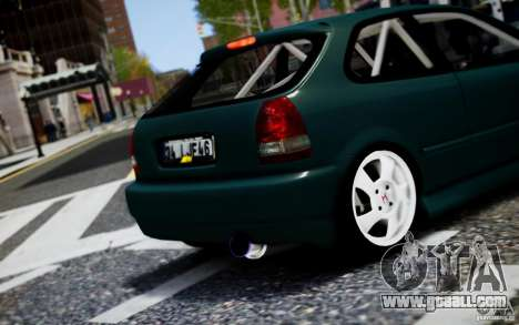 Honda Civic 1.4iES HB 1999 for GTA 4 back view