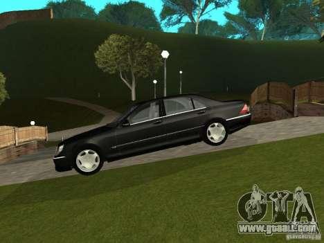 Mercedes-Benz S600 Biturbo 2003 v2 for GTA San Andreas