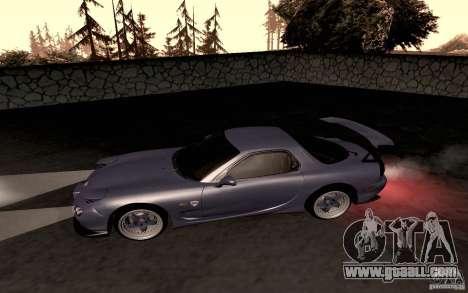 Mazda RX-7 Hellalush for GTA San Andreas back left view