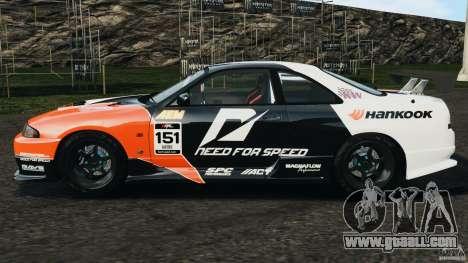 Nissan Skyline GT-R (R33) v1.0 for GTA 4 left view