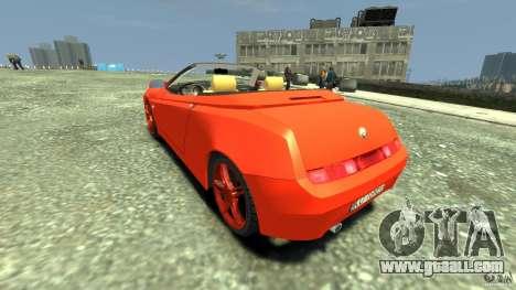 Alfa Romeo GTV Spider for GTA 4 back left view