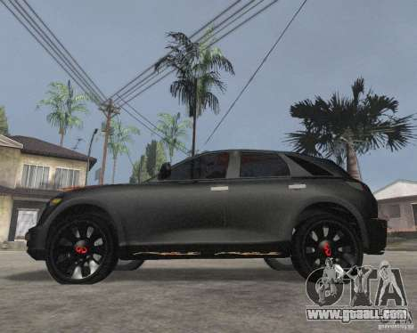 Infiniti FX35 for GTA San Andreas left view
