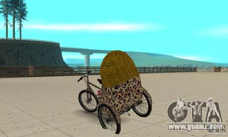 Manual Rickshaw v2 Skin4 for GTA San Andreas back left view