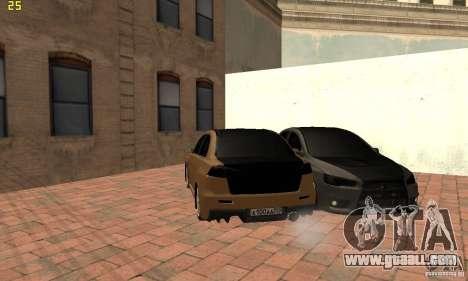 Mitsubishi Lancer Evolution Dag Style for GTA San Andreas back left view