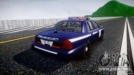 Ford Crown Victoria Homeland Security [ELS] for GTA 4 side view