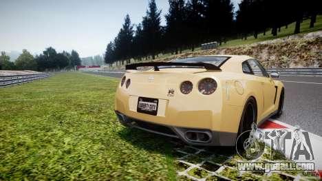 Nissan GTR R35 SpecV v1.0 for GTA 4 back left view