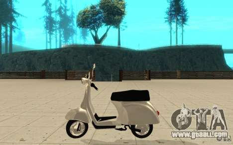 GTAIV EFLC Faggio Classic for GTA San Andreas left view
