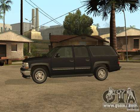 Chevrolet Suburban FBI for GTA San Andreas back left view
