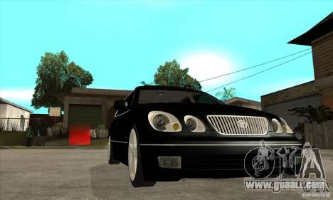 TOYOTA ARISTO 2001 year for GTA San Andreas back view