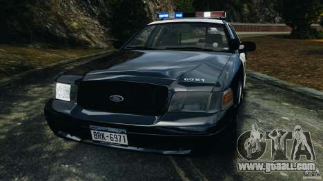Ford Crown Victoria Police Interceptor 2003 LCPD for GTA 4 side view