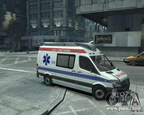 Mercedes-Benz Sprinter Azerbaijan Ambulance v0.1 for GTA 4 back left view