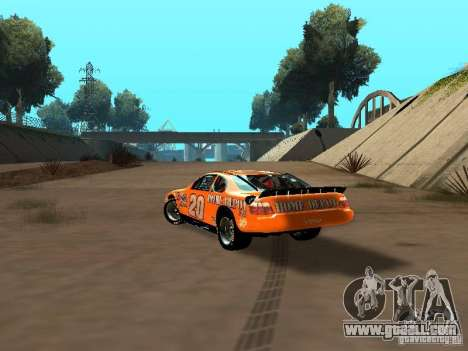 Toyota Camry Nascar Edition for GTA San Andreas back left view