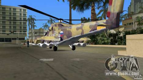 Mi-24 HindB for GTA Vice City side view
