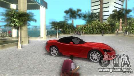 Dodge Viper SRT 10 Coupe for GTA Vice City right view