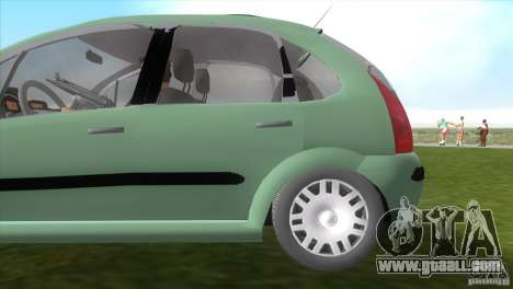 Citroen C3 for GTA Vice City back view