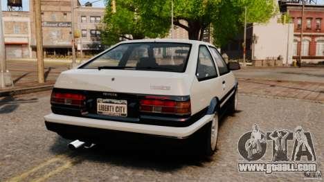Toyota Sprinter Trueno GT 1985 Apex [EPM] for GTA 4 back left view