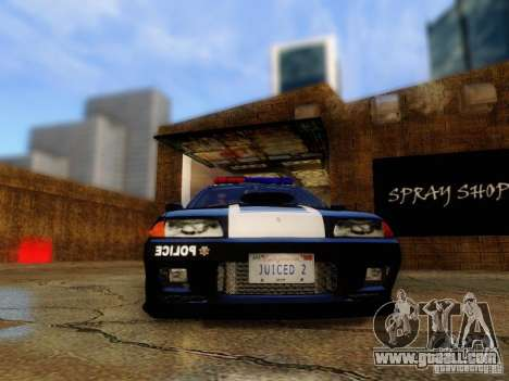 Nissan Skyline R32 Police for GTA San Andreas back view