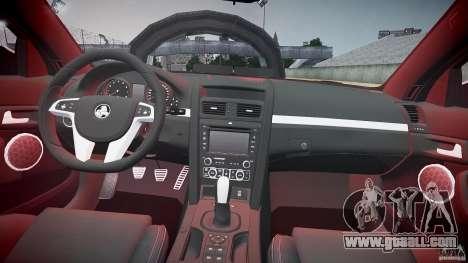 Holden Commodore (FBINOoSE) for GTA 4 upper view